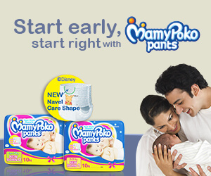 Start early,start right with MamyPoko pants