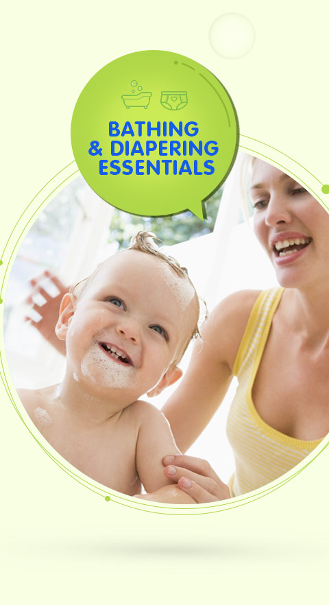 Sunbaby Bathing & Diapering Essentials