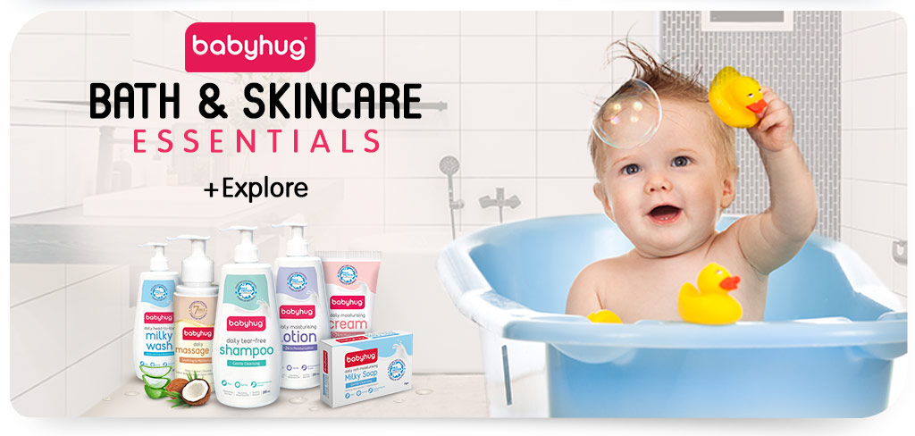 Babyhug bath & skincare essentials