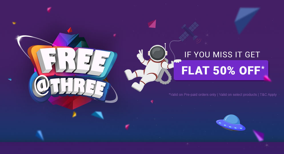 If you miss it get Flat 60% Off*