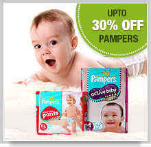 Upto 30% Off on Pampers