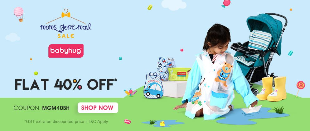 Babyhug FLAT 40% OFF* on Entire Range