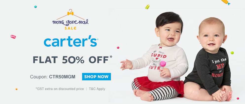 Carters FLAT 50% OFF*