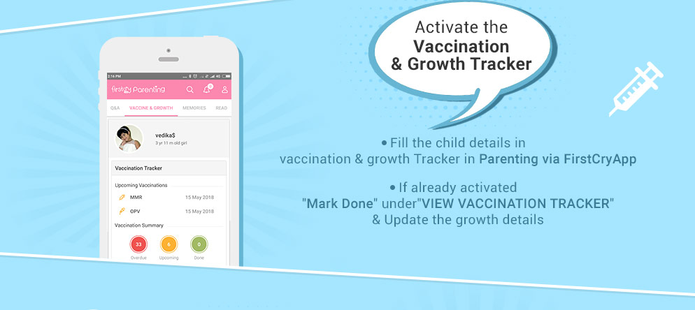 Activate the Vaccination & Growth Tracker