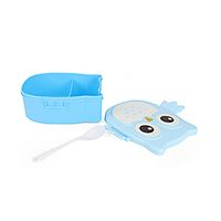 Owl Print Lunch Box - Blue