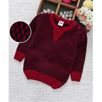 Babyhug Full Sleeves Sweater - Red