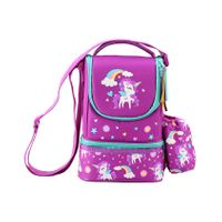 Similykiddos Lunch Box Bag Unicorn Print - Purple
