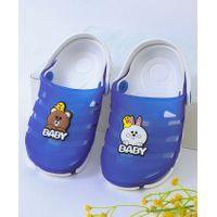 Kidlingss Bear & Bunny Applique Clogs - Dark Blue