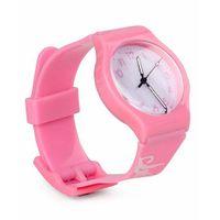 Leaf Print Analog Watch - Pink