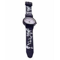 Leaf Print Analog Watch - Navy Blue