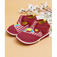 Cute Walk Casual Shoes Rocket Patch - Dark Red