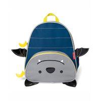Skip Hop Zoo School Bag Bat Design Blue Grey - Height 11.8 inches