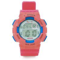 Digital Solid Colour Wrist Watch - Peach