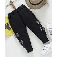 Kookie Kids Side Bow Applique Full Length Lounge Pants - Black
