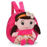 School Bag Girl Motif Pink - Height 9.44 Inches