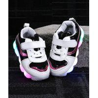 Kidlingss Velcro Straps LED Shoes - Black