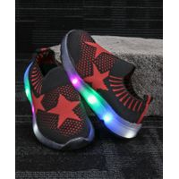 Kidlingss Star Design LED Shoes - Black