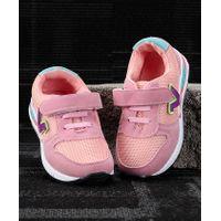 Kidlingss V Patch Velcro Straps Shoes - Pink