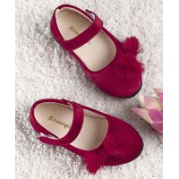 Kidlingss Bow Applique Bellies - Maroon