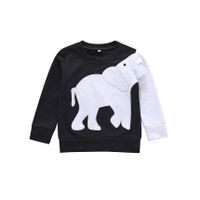 Pre Order - Awabox Full Sleeves Elephant Patch Sweatshirt - Black