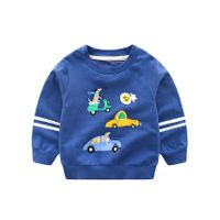 Pre Order - Awabox Scooter & Car Patch Full Sleeves Sweatshirt - Blue