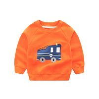 Pre Order - Awabox Fire Truck Patch Full Sleeves Sweatshirt - Orange
