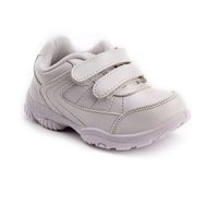 Force 10 School Shoes With Dual Velcro Closure - White