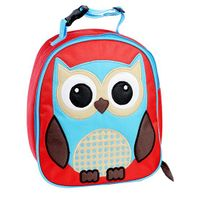 My Gift Booth Owl Print Insulated Lunch Bag - Red