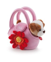 Trudi Puppy In The Bag Pink - 20 cm