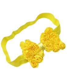 Akinos Kids Floral Bow Headband - Yellow