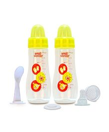 Small Wonder Feeding Bottle Yellow Pack Of 2 - 250 ml