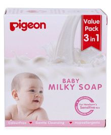 Pigeon Baby Milky Soap Pack Of 3 - 75 gm