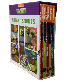 Teenage Mutant Ninja Turtles Story Books Plus 20 Stickers Pack of 5 - English