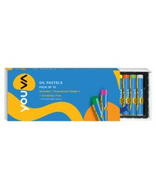 Youva Oil Pastels - Pack of 15 Shades