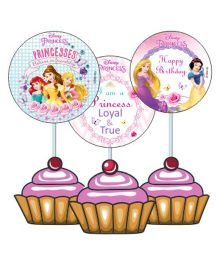 Disney princess Cupcake And Food Toppers - Pack of 10