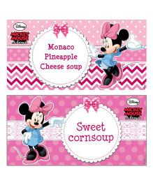Disney Minnie Mouse Food Labels - Pack of 10