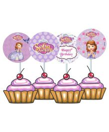 Disney Sofia The First Enchanted Garden Party Cupcake And Food Toppers - Pack of 10