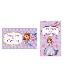 Disney Sofia The First Enchanted Garden Party Thankyou Cards - Pack of 10