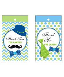 Preetyurparty Little Man Theme Thankyou Cards - Pack of 10