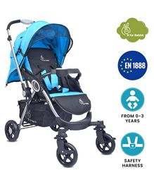 R for Rabbit Chocolate Ride The Designer Pram - Blue & Black
