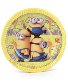 Minions Big Paper Plates Yellow - Pack Of 10