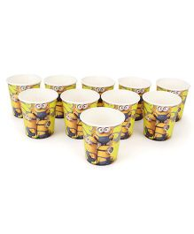 Minions Paper Cup Yellow - Pack Of 10