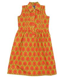 Patch Bunnies Sleeveless Frock Jaipur Print - Multi Color