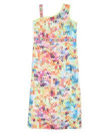 Patch Bunnies Sleeveless Frock Floral Print - Multi Color