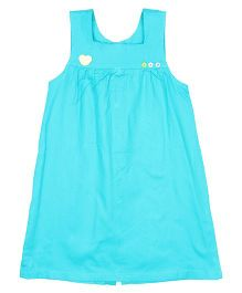 Patch Bunnies Sleeveless Frock Square Neck - Blue