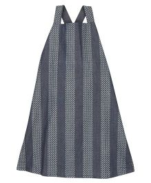 Patch Bunnies Denim Dungaree Stripes Pattern - Charcoal Black