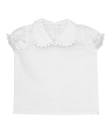 Patch Bunnies Puff Sleeves Top - White