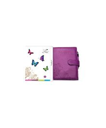 Tiara Diaries Pregnancy and Baby Journal Cum Planner - Purple