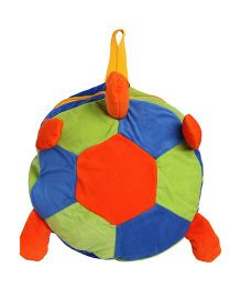 Hello Toys Plush Soft Backpack Turtle Shape Blue Orange Green - 14 Inches