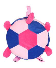 Hello Toys Plush Soft Backpack Turtle Shape Blue Pink - 14 Inches